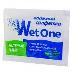 Салфетка влажная   1 шт в индивидуальной упак ЗЕЛЕНЫЙ ЧАЙ  антибактериальная 1/1000