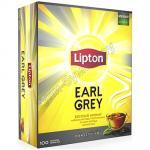 Чай черный пакетированный   100 шт/уп LIPTON EARL GREY   1/1