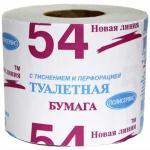 Бумага туалетная   1-сл 1 рул/уп 54 м эконом СЕРАЯ   1/48