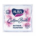 Палочки ватные   100 шт/уп AURA в мягкой упаковке   ''KK''   1/120