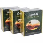 Чай черный пакетированный   100 шт в индивидуальной упак GOLDEN CEYLON   ''GREENFIELD''   1/9