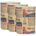 Полотенце бумажное листовое   215х240 мм 1-сл 250 шт/уп Z-сложения FOCUS EXTRA с тиснением БЕЛОЕ   ''HAYAT''   1/24