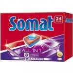 Таблетки универсальные   24 шт/уп для посудомоечных машин SOMAT ALL IN ONE   ''HENKEL''   1/7