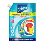 Средство для стирки жидкое   1л для цветных тканей CHIRTON Doy-Pack   ''GD''   1/6