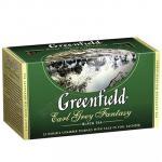 Чай черный пакетированный   25 шт в индивидуальной упак GREENFIELD EARL GREY FANTASY   1/1