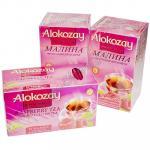 Чай черный пакетированный   25 шт в индивидуальной упак МАЛИНА   ''ALOKOZAY''   1/24