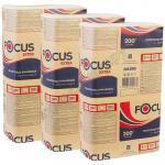 Полотенце бумажное листовое   1-сл 200 лист/уп 215х240 мм Z-сложения FOCUS EXTRA БЕЛОЕ   ''HAYAT''   1/12