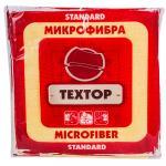 Салфетка микроволоконная (микрофибра)   ДхШ 290х290 мм 1 шт/уп STANDART ЦВЕТ В АССОРТИМЕНТЕ   ''TEXTOP''   1/100