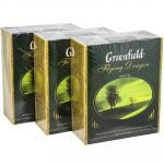 Чай зеленый пакетированный   100 шт в индивидуальной упак FIYING DRAGON   ''GREENFIELD''   1/9