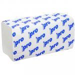 Полотенце бумажное листовое   1-сл 250 лист/уп 210х230 мм V-сложения БЕЛОЕ   ''PROtissue''   1/20