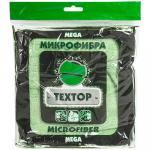 Салфетка микроволоконная (микрофибра)  ДхШ 400х400 мм 1 шт/уп ЦВЕТ В АССОРТИМЕНТЕ   ''TEXTOP''   1/100