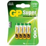 Батарейка AAA   4 шт/уп GP SUPER в блистере   ''GP''   1/10